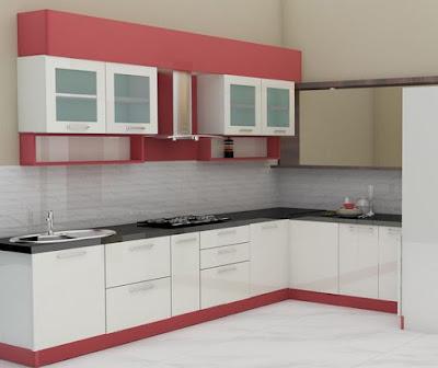 Desain Interior Dapur Minimalis Bentuk - L