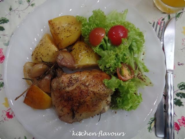 kitchen flavours: Slow-Roasted Garlic and Lemon Chicken