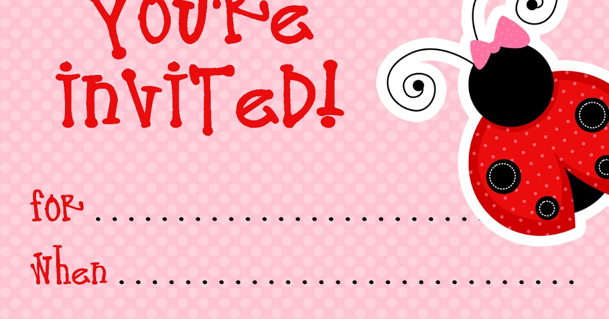 √ Free Printable Party Invitations Free Ladybug Invite Template