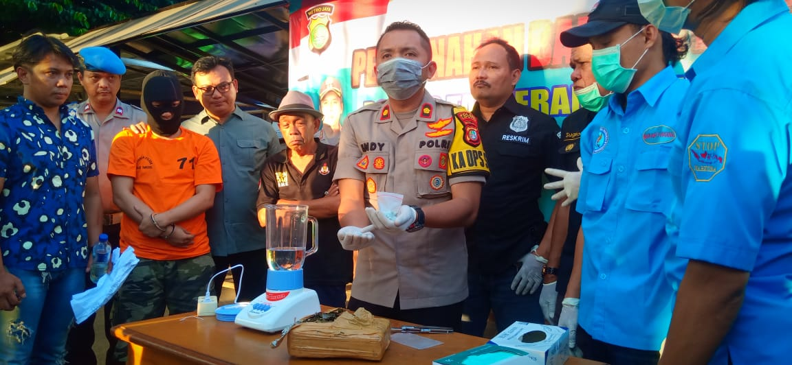 Kapolsek Ciputat Bersama BNN Laksanakan Pemusnahan Narkoba