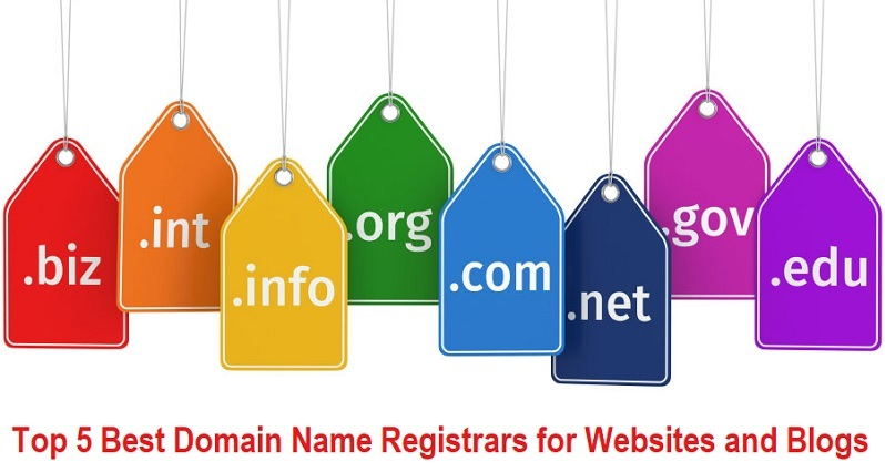Top 5 Best Domain Name Registrars for Websites and Blogs
