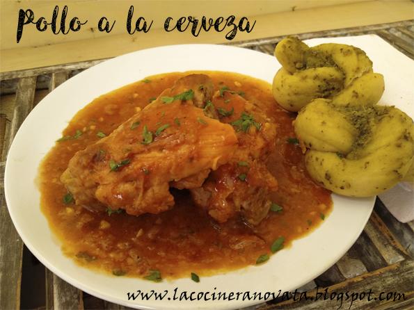 POLLO A LA CERVEZA la cocinera novata cocina receta española casera guiso aves tupper comfortfood