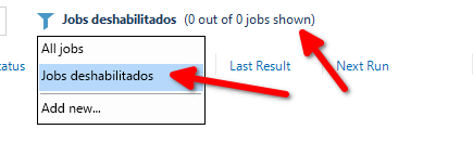 Veeam Backup: Vistas jobs