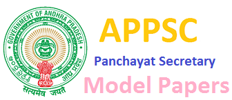 AP Panchayat Secretary Model Papers 2016