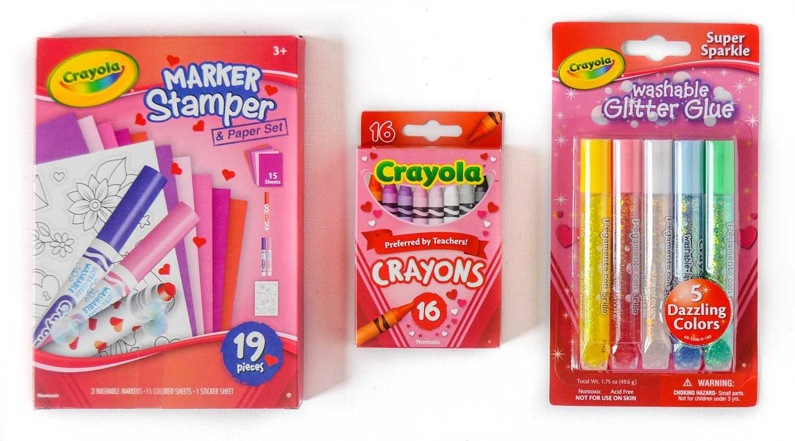 crayola valentine s collection what s inside the box jenny s