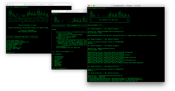 DumpsterFire : Toolset – Security Incidents In A Box!