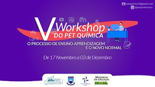 Abertas inscrições para o V Workshop do PET Química do CES/UFCG