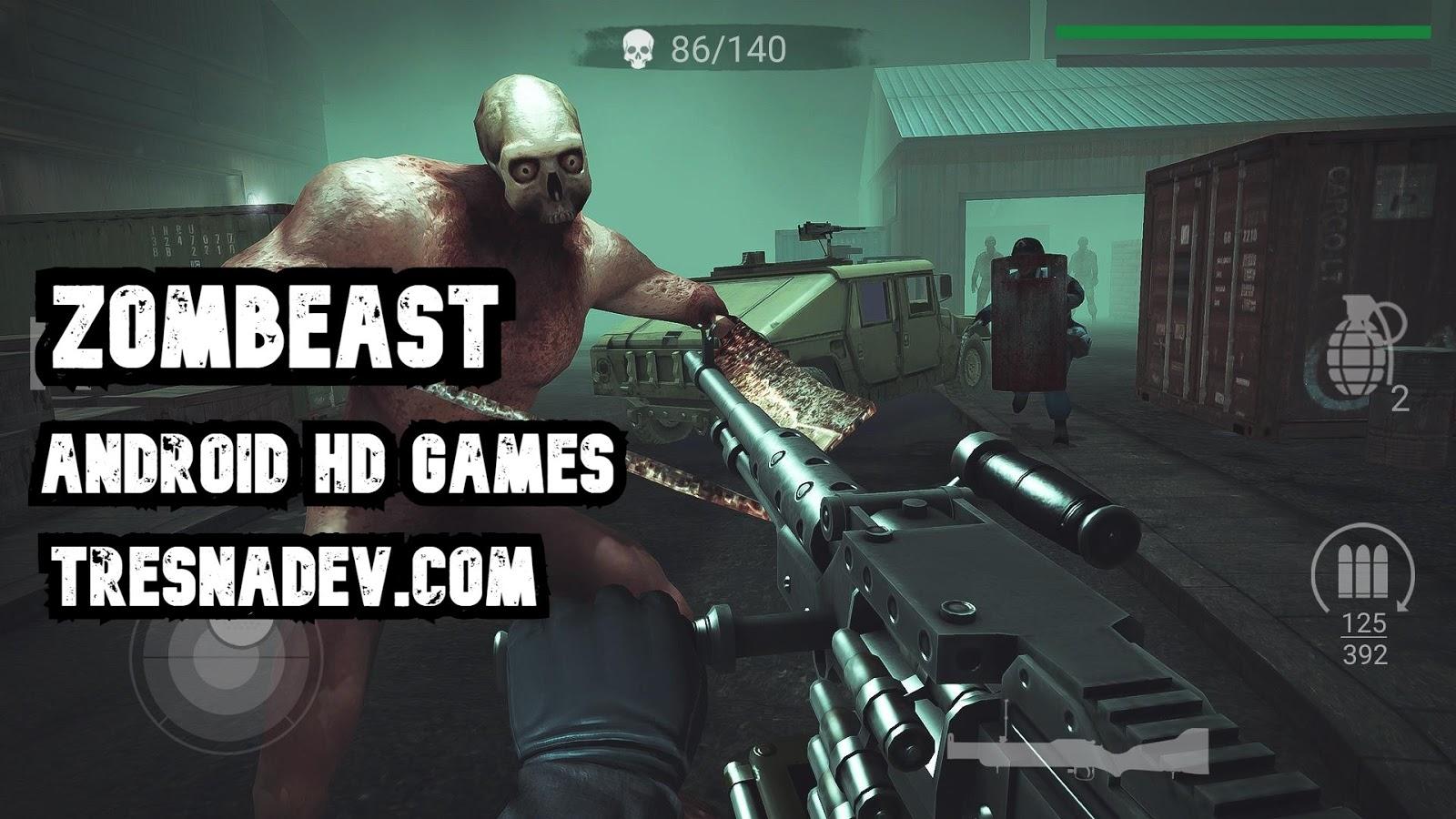 Zombeast Mod Apk Unlimited Money Offline FPS Shooter