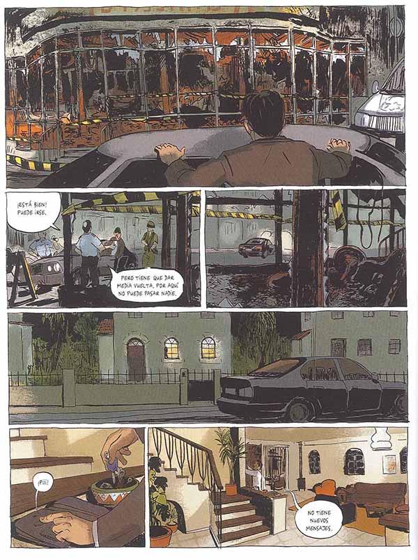 """Páginas del cómic """"El Atentado"""""""