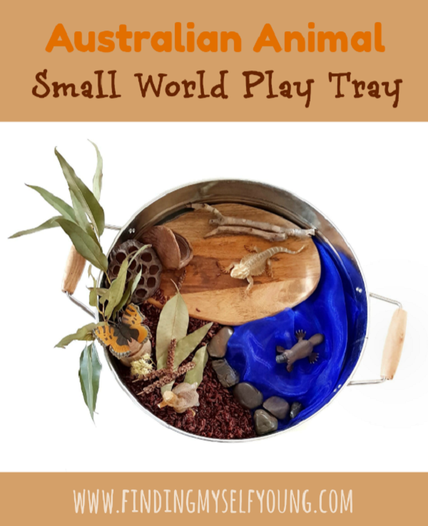 Australian animal and plants small world play tray
