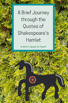 A Mom's Quest to Teach: A Brief Journey through the Quotes of Shakespeare's Hamlet; background tree; horse clip art