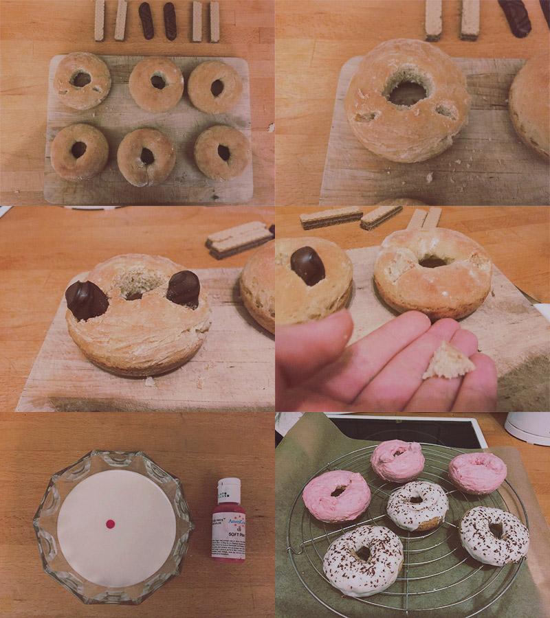 KuneCoco • Rezept • Wie mache ich aus normalen Donuts Schweine Donuts?