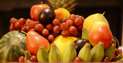 Bunch Of Plate Of Fruits in Tet Festival.