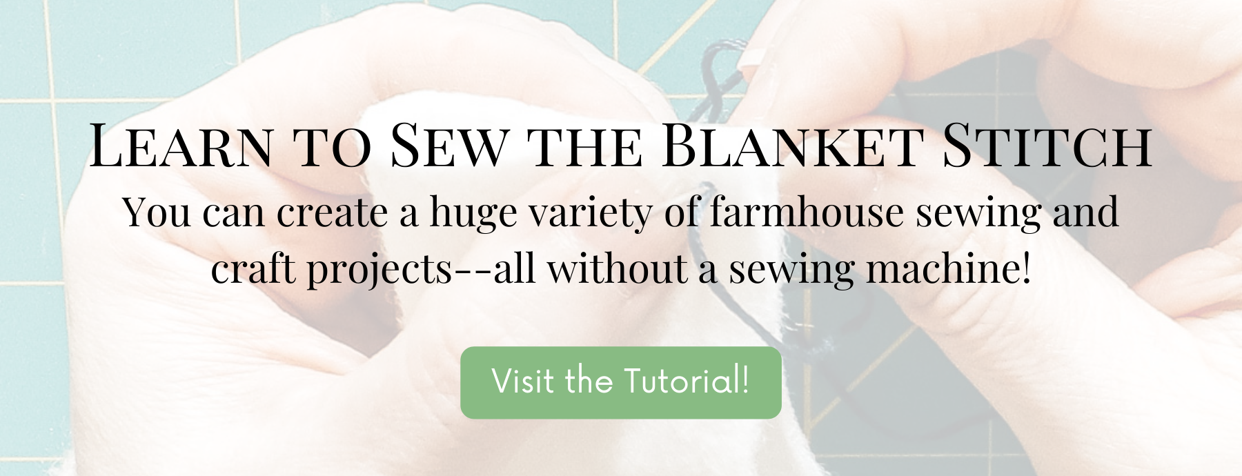 Learn this simple hand stitching technique for crafting
