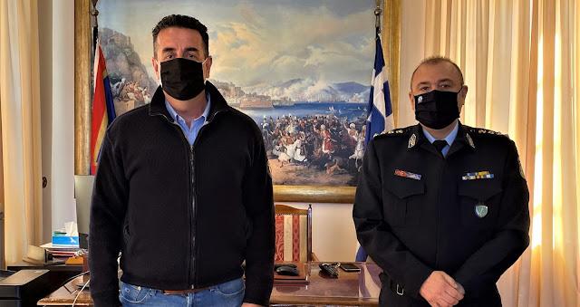Συνάντηση με το νέο Αστυνομικό Διευθυντή είχε ο Δήμαρχος Ναυπλιέων Δ. Κωστούρος