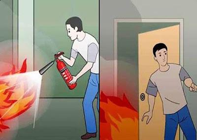 Cách thoát hiểm khi gặp hỏa hoạn