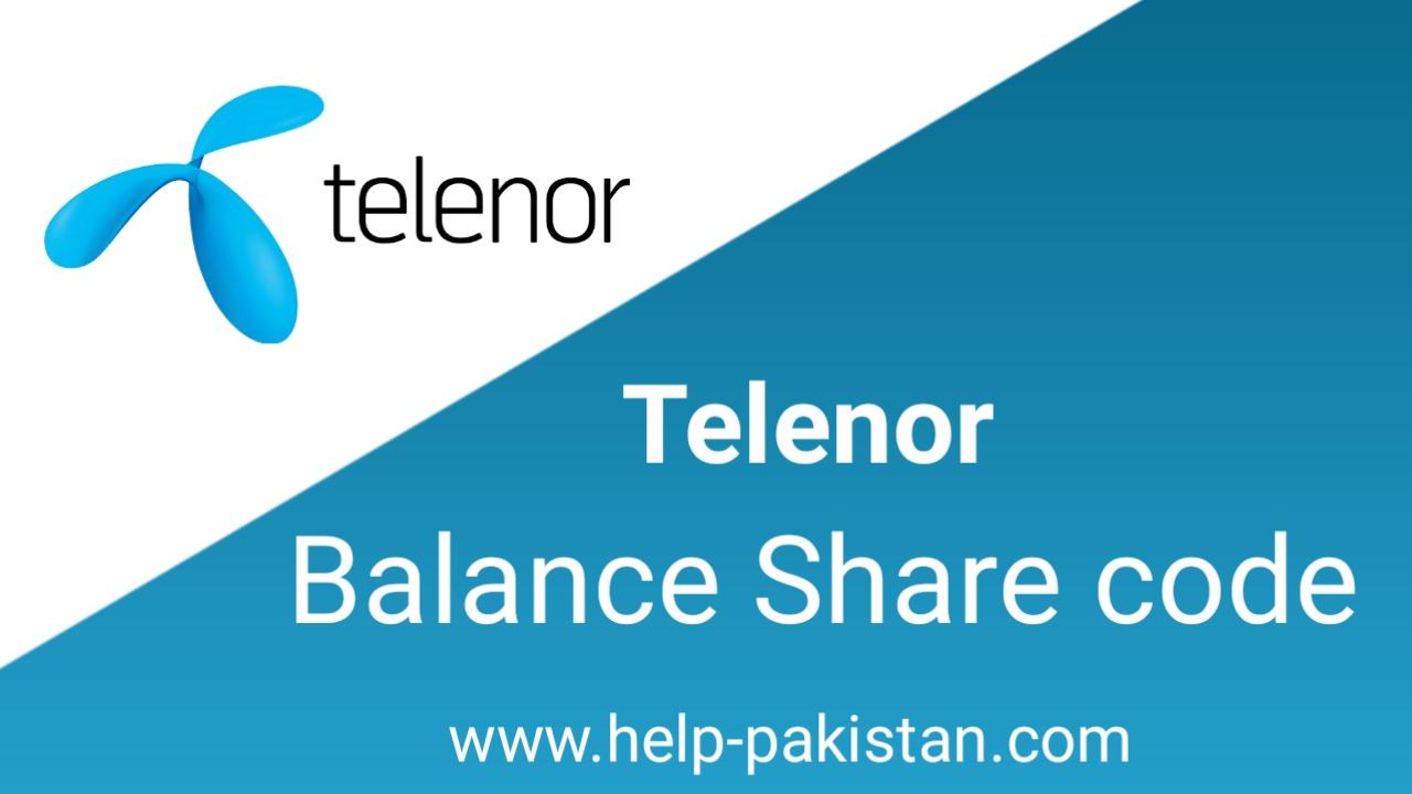 Telenor Balance share code