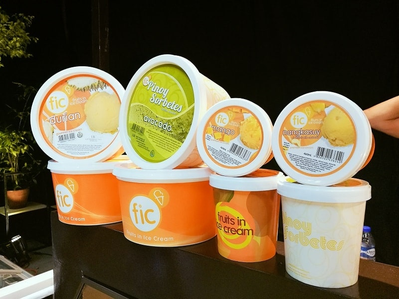 Famous FIC ice cream available at Indah Asian Market