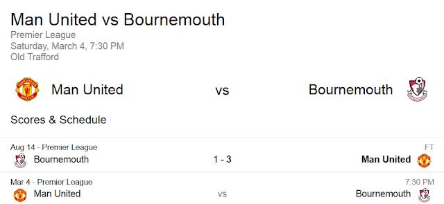 Prediksi Skor Manchester United VS AFC Bournemouth   Polisibola.com