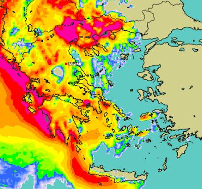 1 - Μπόρες και καταιγίδες σε μεγάλο μέρος της χώρας (+XAΡΤΕΣ ΥΕΤΟΥ)