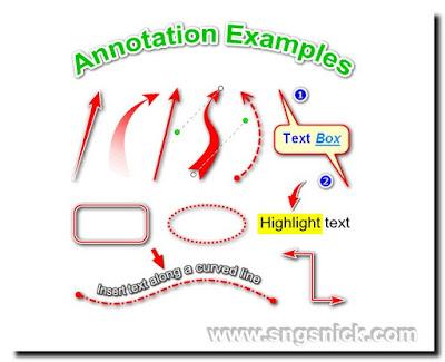 FastStone Capture 8.7 - Примеры аннотаций