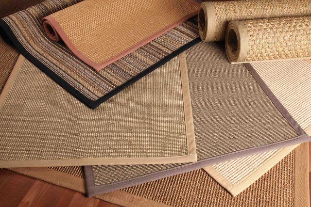 serat karpet lantai