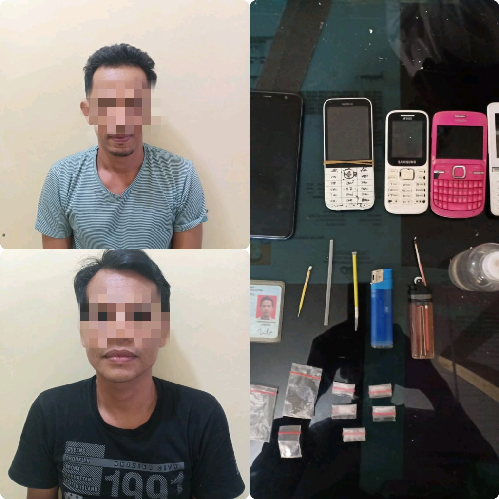 Asik Pesta Sabu, Dua Warga Bakauheni Ditangkap Polisi