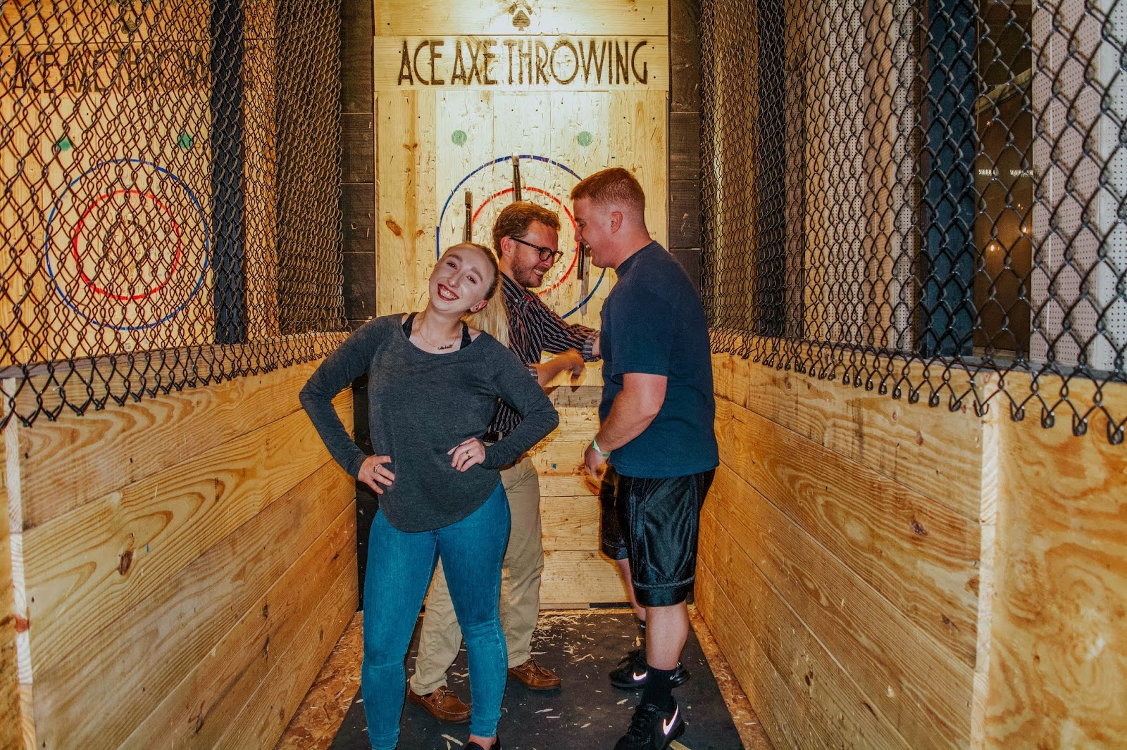 Family Bonding Over Axe Throwing