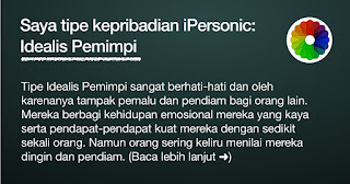 Keperibadian Idealis Pemimpi by aapuji.com
