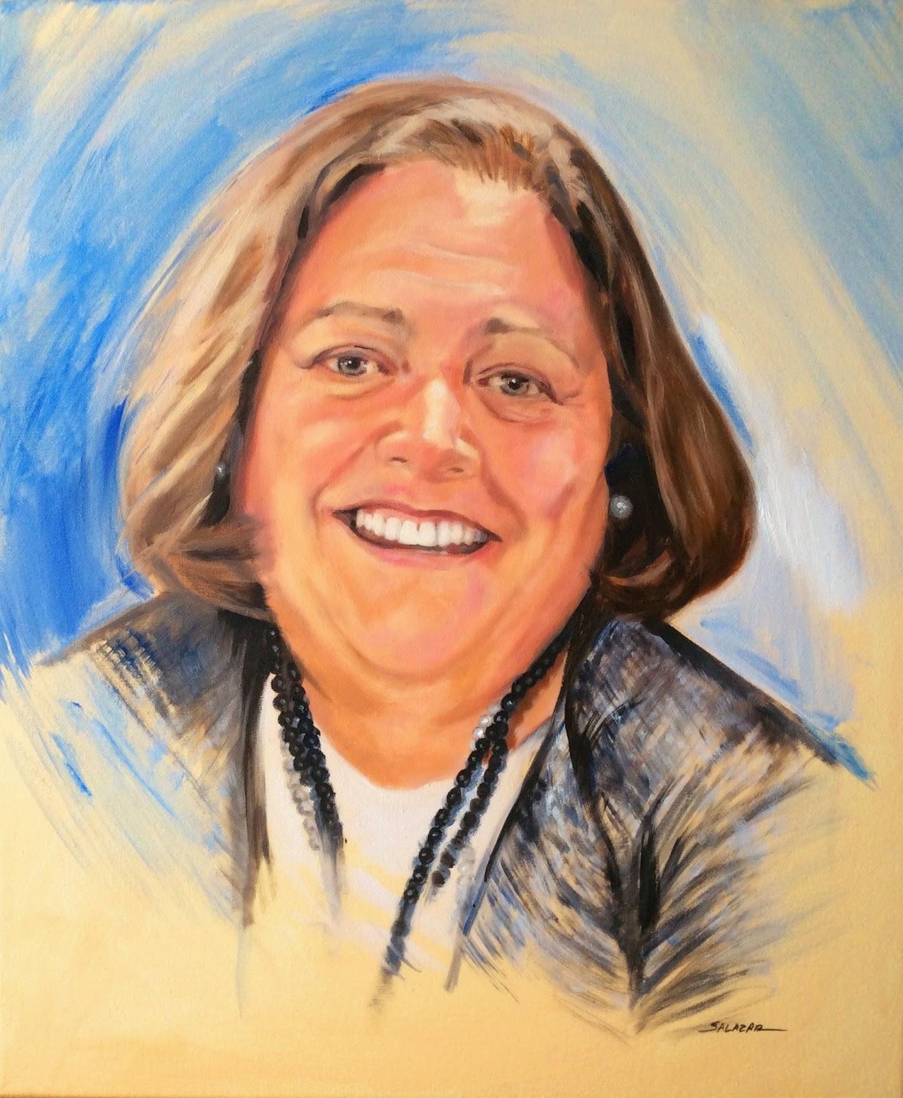 Retrato por encargo al óleo de una mujer.