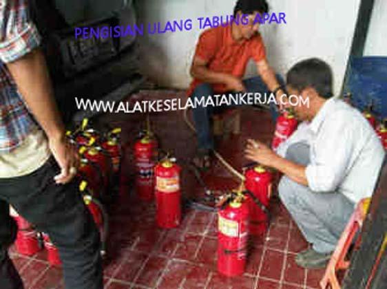 Jasa reffiling tabung pemadam kebakaran jenis dry powder