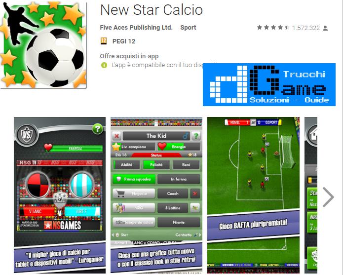 Trucchi New Star Soccer Mod Apk Android v4.09