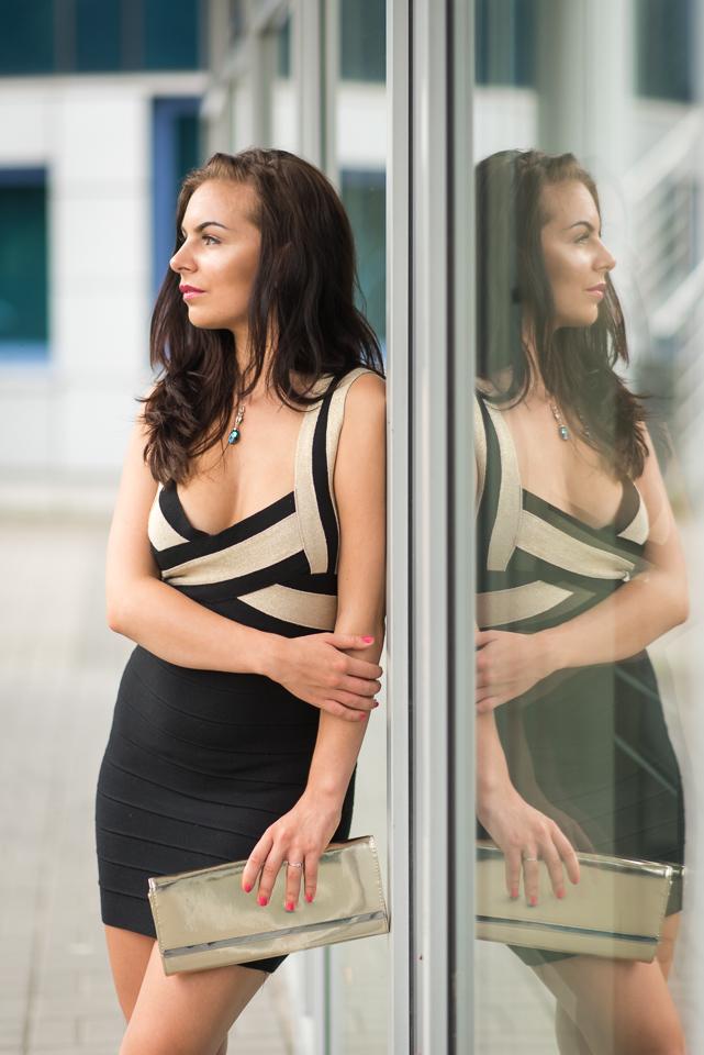czarna sukienka nawesele
