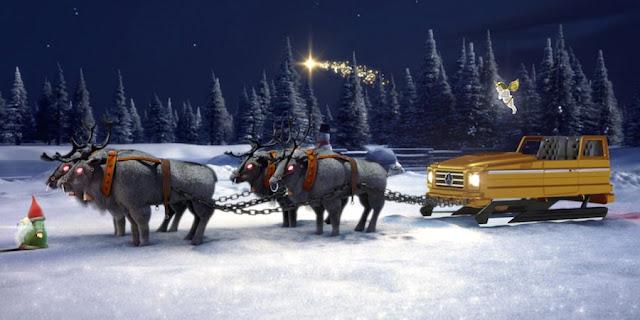 メルセデスベンツ、クリスマスに合わせサンタのソリが作れるコンフィギュレータを公開!