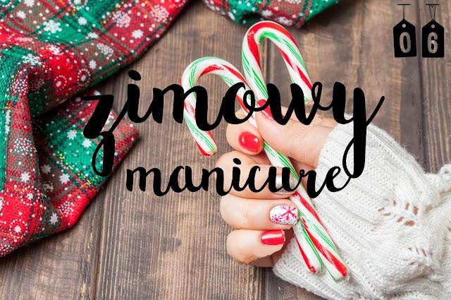 zimowy manicure / blogmas 2016
