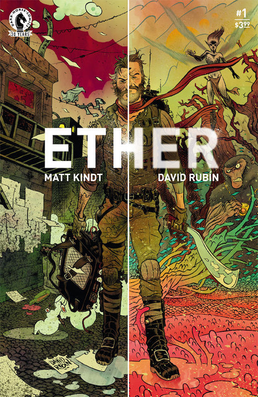 Ether #1. Story: Matt Kindt Art: David Rubin Variant Cover: Jeff Lemire.
