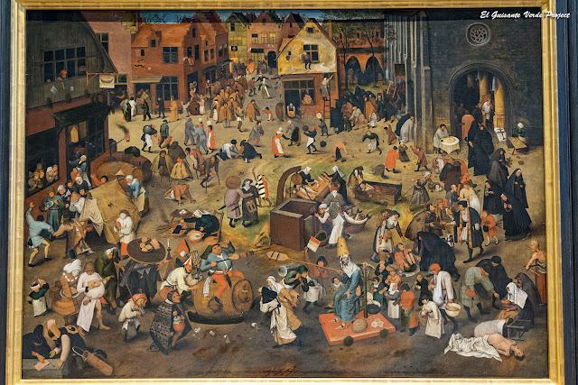 Pieter Bruegel, La Batalla entre el Carnaval y la Cuaresma - Kunsthistorisches Museum, Viena por El Guisante Verde Project