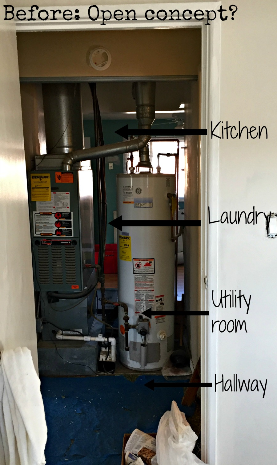 Poor design of utility room
