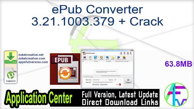 ePub Converter 3.21.1003.379 + Crack