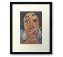 Pastel painting framed