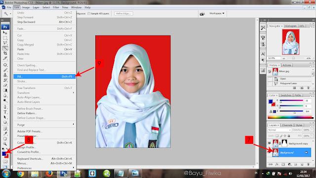 mengganti warna latar pada pas foto