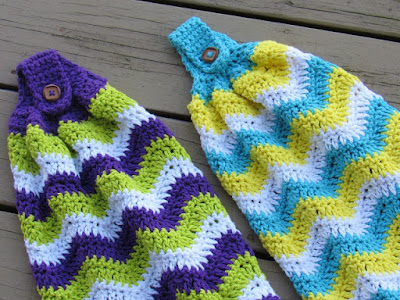 how to make crochet top hand towels