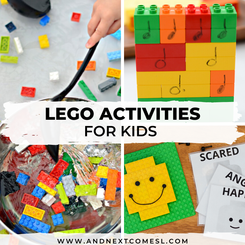 LEGO stem activities, LEGO face printables, and more for kids of all ages