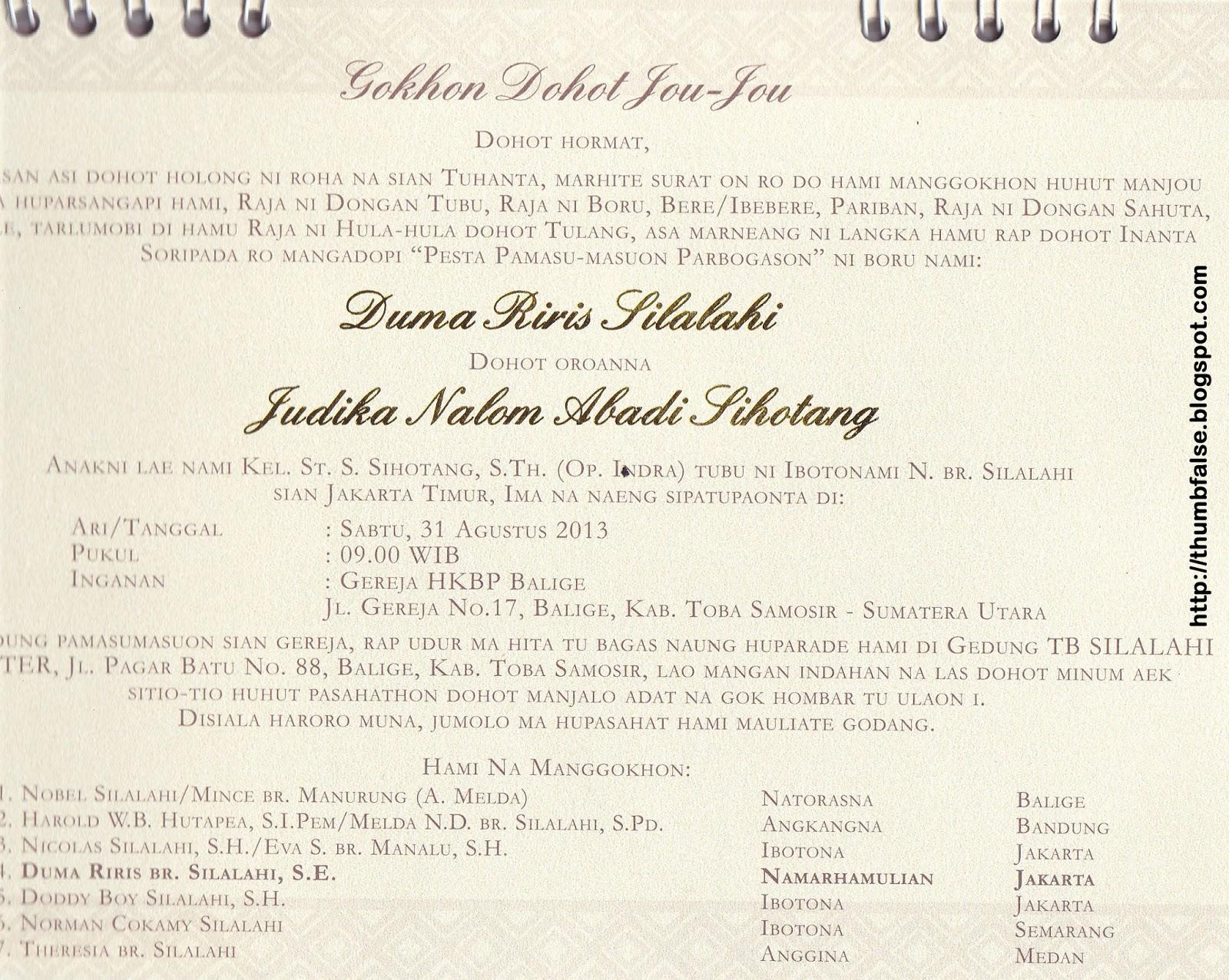 Kartu Undangan Pernikahan Pekanbaru