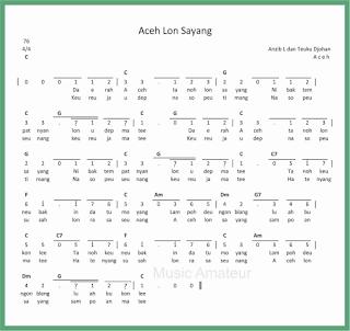 not angka lagu aceh lon sayang lagu daerah aceh