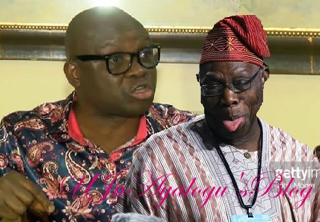Fayose to Obasanjo: Submit yourself for probe, your travails not Yoruba issue
