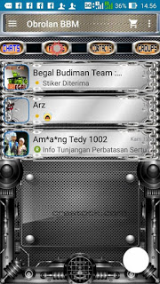 BBM MOD METAL DESIGN 2.9.0.45 APK (Free Sticker)