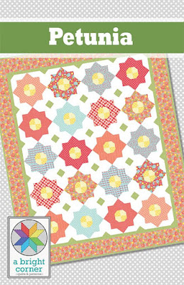 Petunia quilt pattern by A Bright Corner