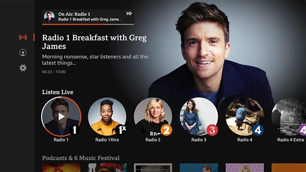 BBC Sounds App on TV
