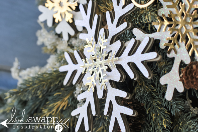 Beautiful snowflakes for walls, wreaths or even your tree from Heidi Swapp. @jamiepate for @heidiswapp